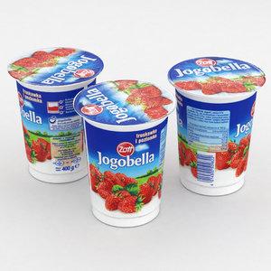 3D model yoghurt