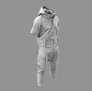 cyberpunk costume - marvelous 3D model