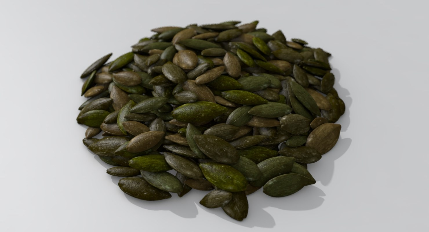 pile dried pumpkin seeds 3D model