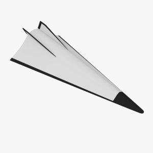 avangard hypersonic glide 3D model