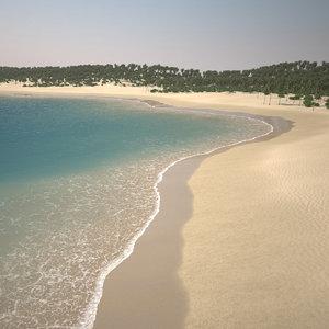 palm beach shoreline 3D