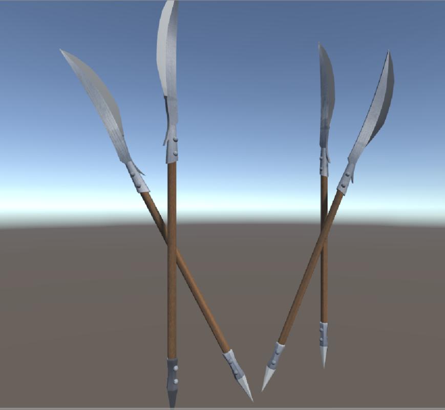 3D model ready halberd unity