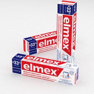 3D toothpaste model