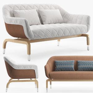 outdoor sofa smania figi 3D model