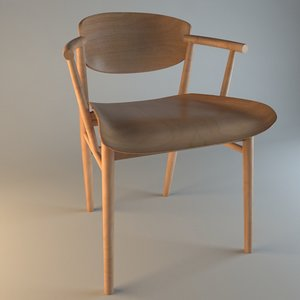 3D model chair furnishings chaise