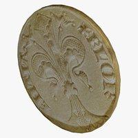 3D modeled old coins model