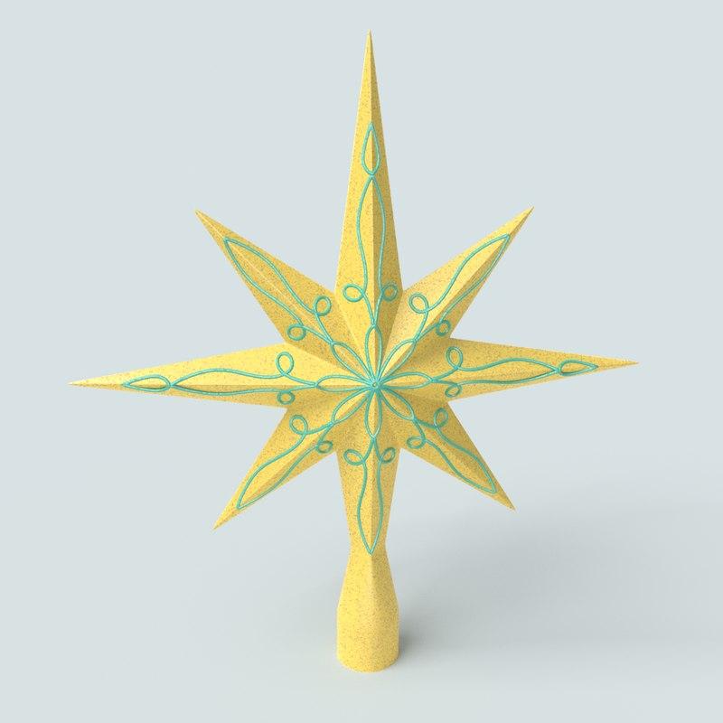 christmas tree star 3D