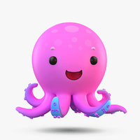 cute cartoon octopus 3D