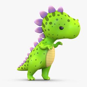3D model cute cartoon dinosaur
