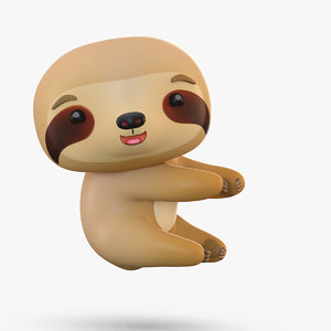 cute cartoon sloth model