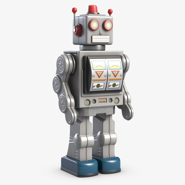 3D vintage robot toy 1