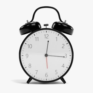 3D alarm clock rigged