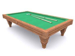 3D model billiard pool