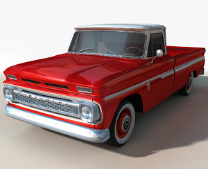 3D chevy c10 pickup model
