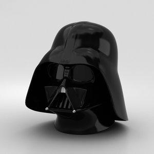 3D darth vader helmet