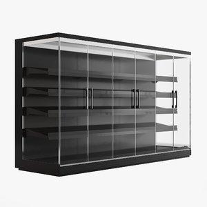 supermarket freezer tecto 3D model