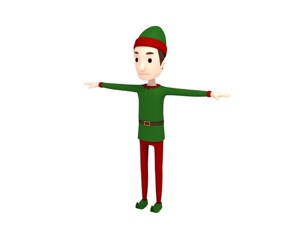 elf character cartoon 3D model