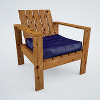 Simple Outdoor Lounge Chair