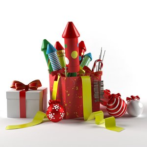 box fireworks toys 3D