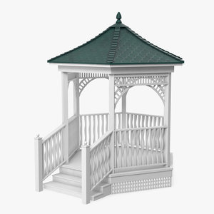 gazebo structure architecture 3D model
