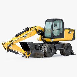 3D wheel excavator jbc 160