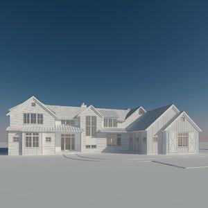 3D house farm model