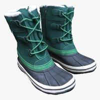 winter boots 3D model
