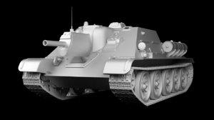 3D su-122 wwii tank