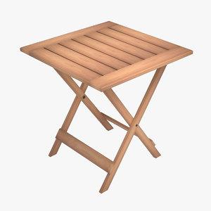 folding table 3D model