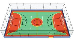 3D sport court model