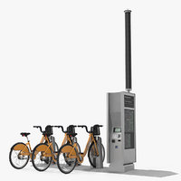 sharing pay station bicycles 3D model