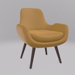 moby accent chair 3D model