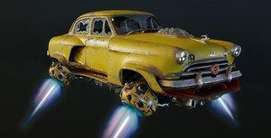 3D model taxi volga gaz-21