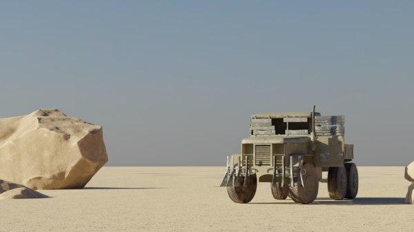 post apocalyptic truck 3D