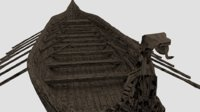 3D old viking ship model