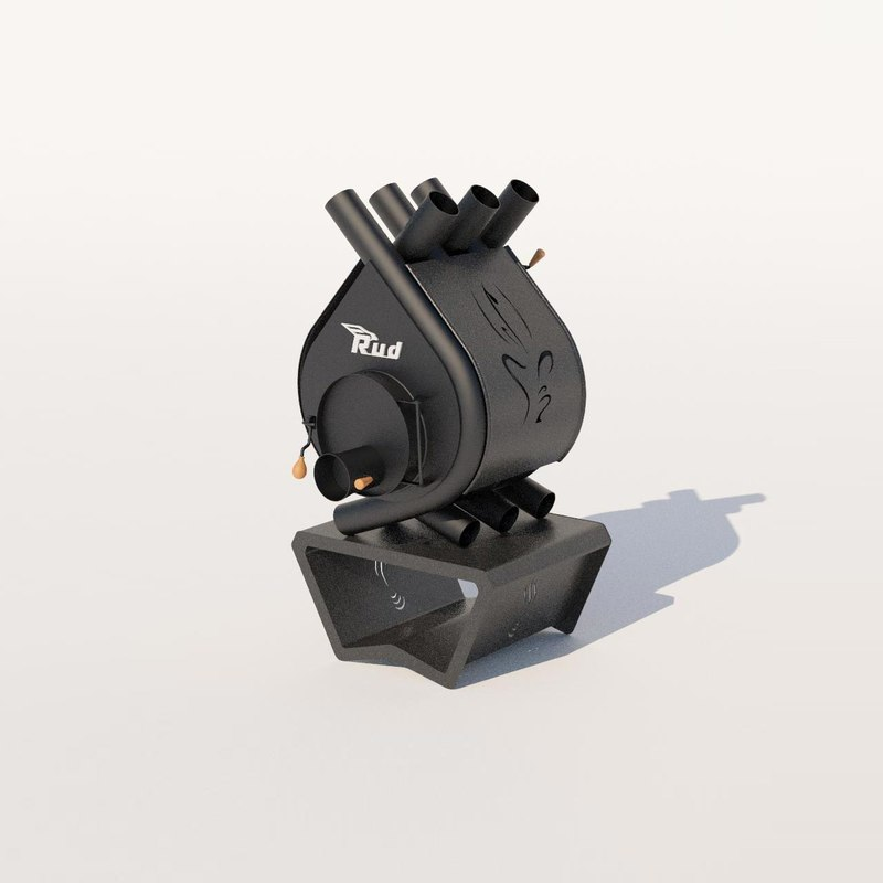 3D heating stove rud pyrotron