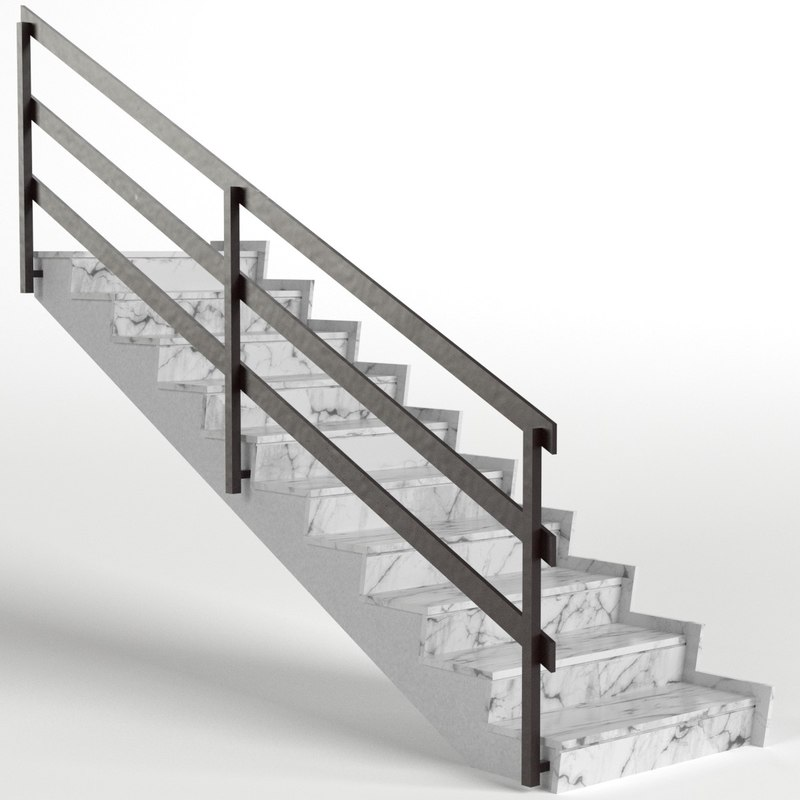 3D stairs ready model