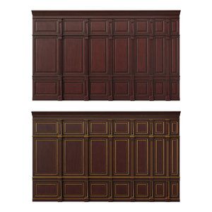 wooden panels wood wall 3D model