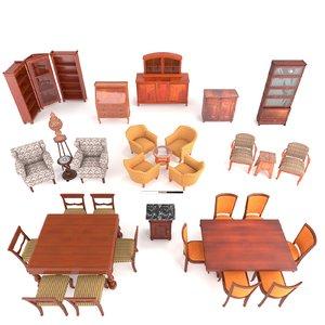 3D antique furniture european model