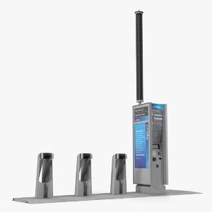citi bike pay station 3D model