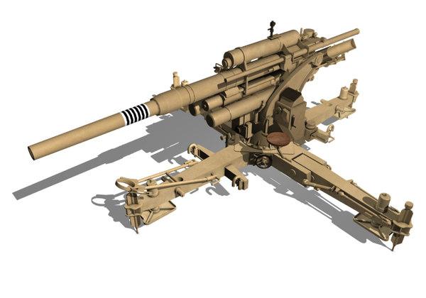 3D 8 cm flak model