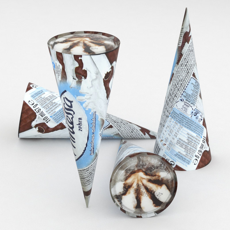 3D ice cream cone
