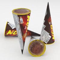3D model ice cream cone