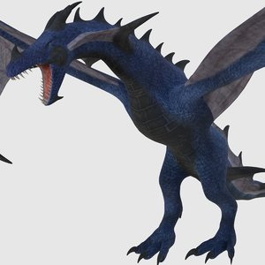 3D model ready dragon animations -