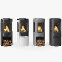 3D fireplace contura 556 model