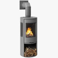 3D fireplace contura 556 grey