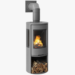 3D fireplace contura 556 grey