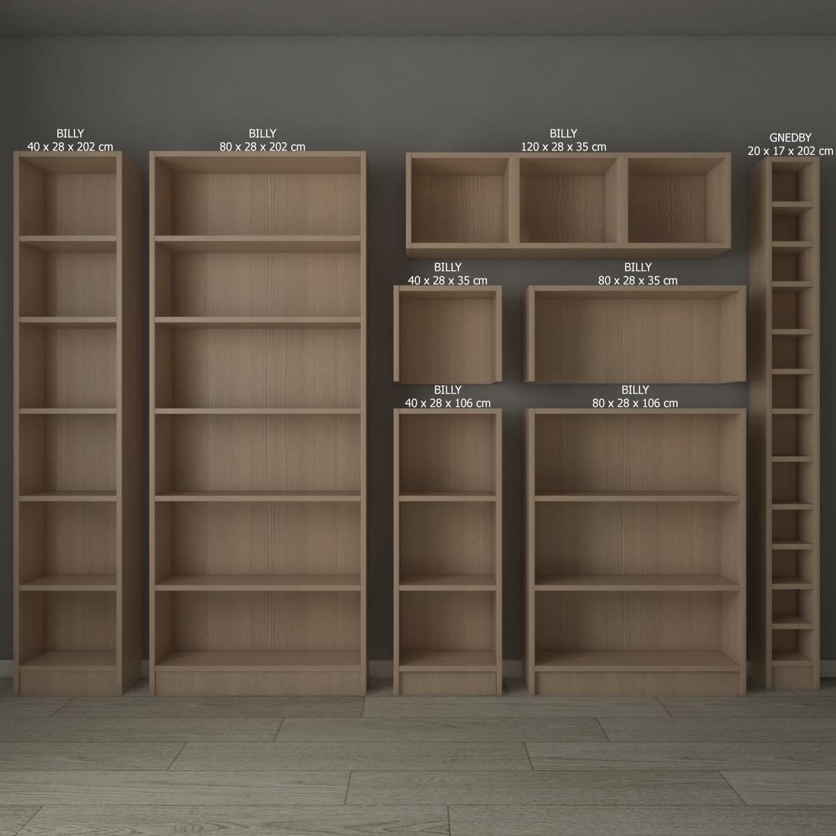 Ikea Billy Oxberg Bookcase
