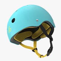 3D blue skate helmet