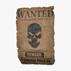 3D wanted poster v1 -